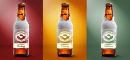Grafisk Design af etiketter til øl bryggeri